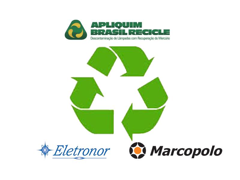 Eletronor e Marcopolo contam com serviços da Apliquim Brasil Recicle