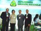 Autoridades e convidados especiais prestigiaram estande da Apliquim Brasil Recicle